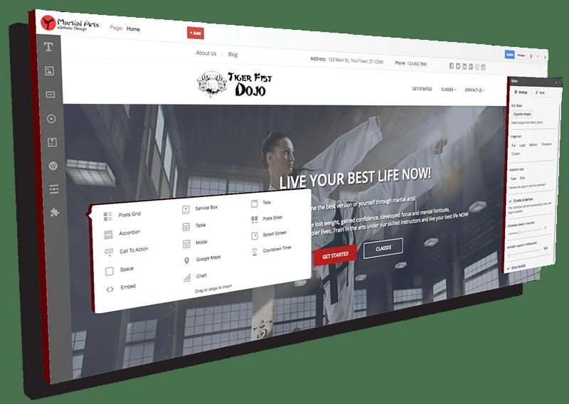 martial arts site preview
