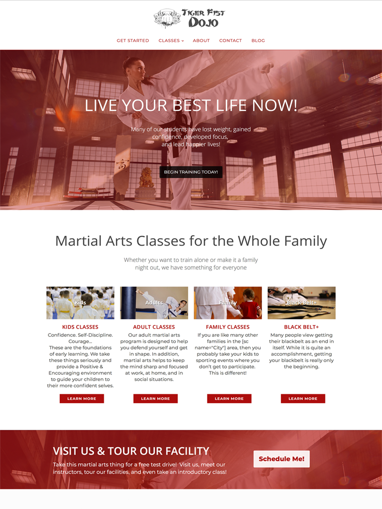 Karate Websites