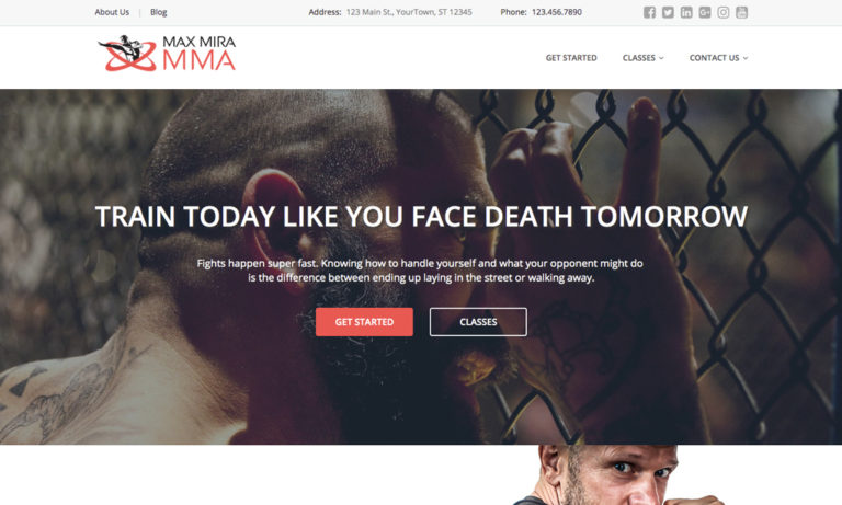 mma websites design