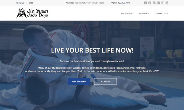 judo websites design dojo