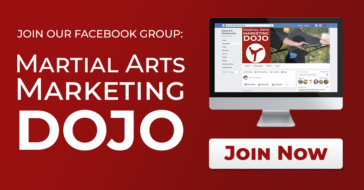 join our martial arts marketing facebook group